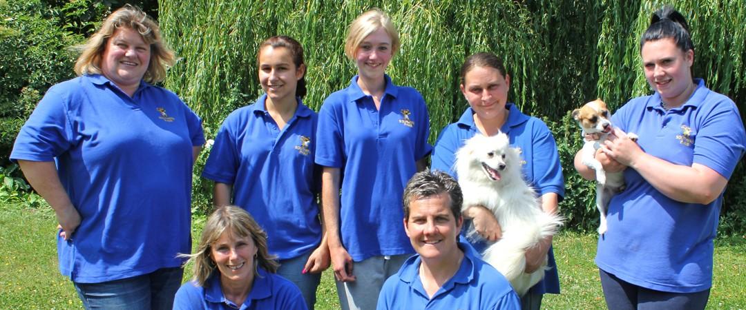 kennel staff at southend farm