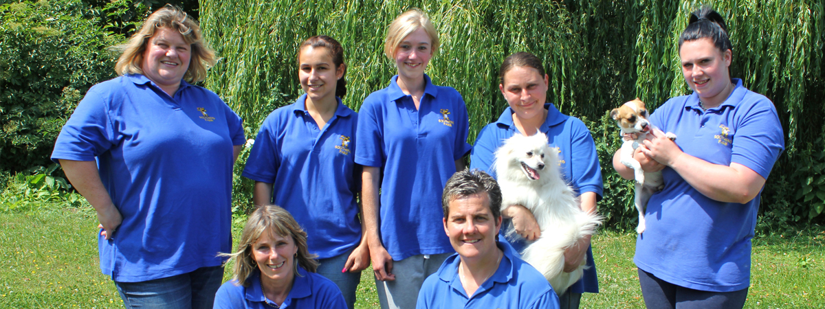 kennel staff at southend farm
